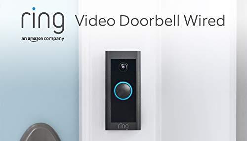 Wir stellen vor: Ring Video Doorbell Wired von Amazon – HD-Video Türklingel, fortschrittliche Bewegungserfassung, festverdrahtete Installation   Mit 90-tägigem Testzeitraum für Ring Protect
