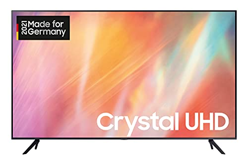 Samsung Crystal UHD 4K TV 55 Zoll (GU55AU7179UXZG), HDR, Q-Symphony, Boundless screen [2021],Schwarz