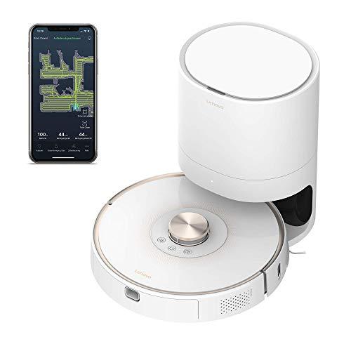 Lenovo Robot Vacuum T1 Pro Saugroboter, Steuerung per App, weiß