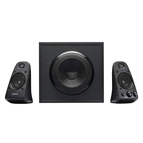 Logitech Z623 Lautsprecher-System mit Subwoofer, Satter Bass, 400 Watt Spitzenleistung, THX-Zertifiziert, 3,5 mm & Cinch-Eingänge, Multi-Device, EU Stecker, PC/PS4/Xbox/TV/Smartphone/Tablet - schwarz