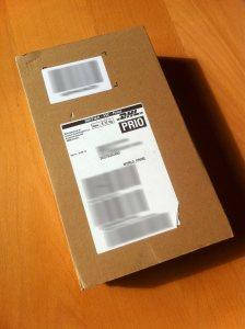 Das noch eingepackte Amazon Fire-TV