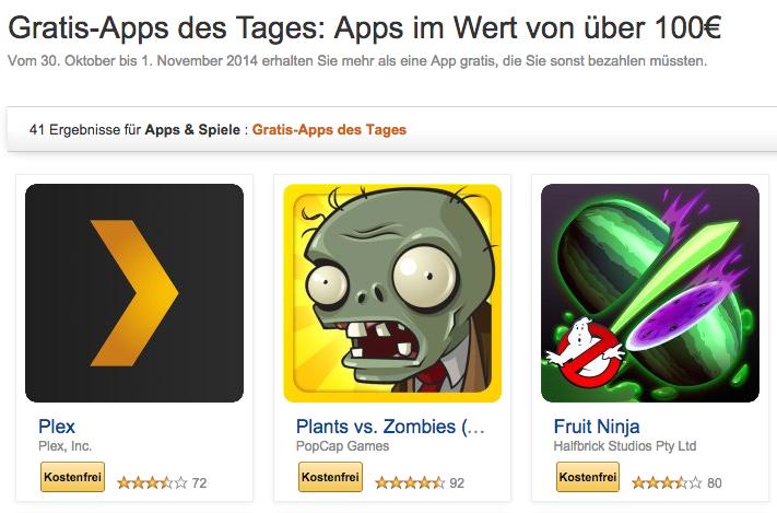 Tipp: 41 sonst kostenpflichtige Apps zur Zeit gratis bei amazon!