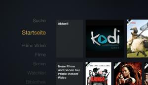 XBMC dank Ikono TV und Llama auf dem Amazon Fire TV von der Startseite aus starten