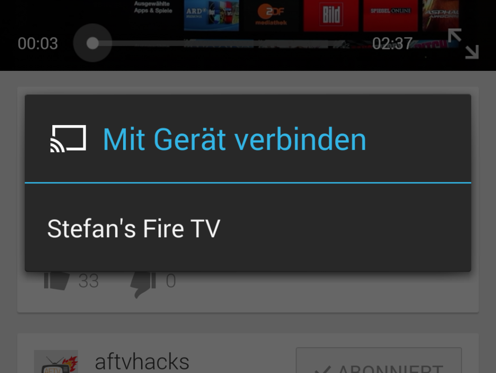 handy auf fire tv streamen