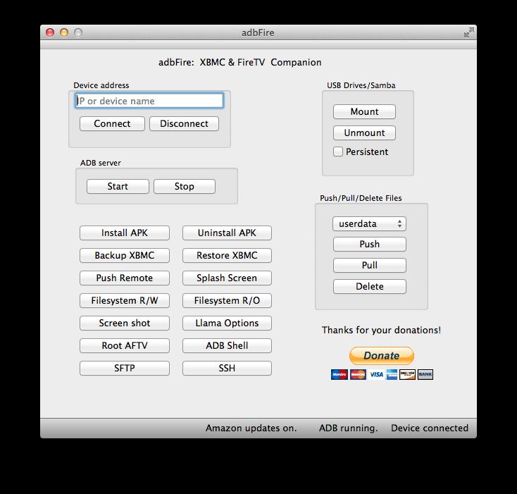adbFire 1.11 erschienen, XBMC komplett ohne Root & SSH