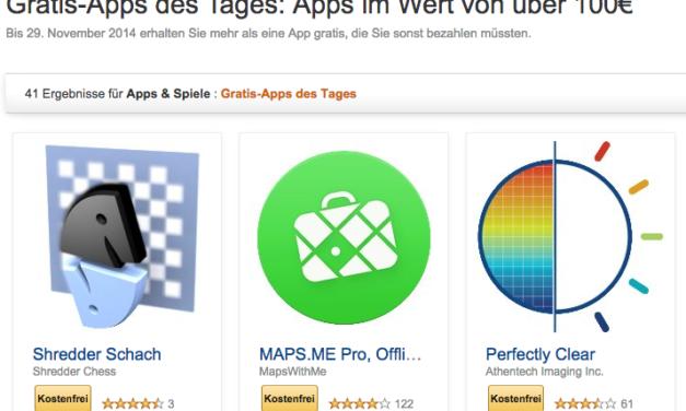 Tipp: Wieder 41 sonst kostenpflichtige Android-Apps gratis bei amazon!