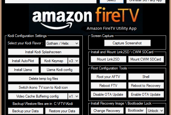 Amazon Fire TV Utility App Version 0.30: nur für gerootete Fire TVs interessant
