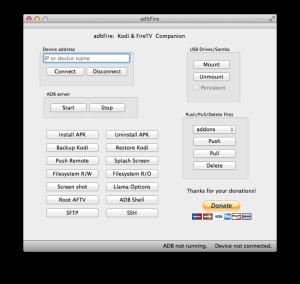Screenshot von adbFire 1.14