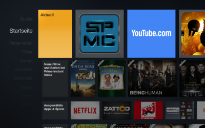Tipp: SPMC als offizielle App vom Startbildschirm aus starten