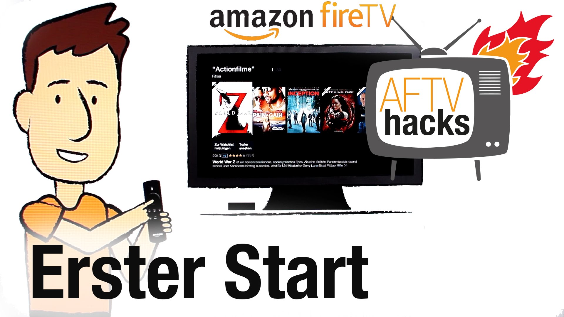Erster Start des deutschen amazon Fire TV - First Boot