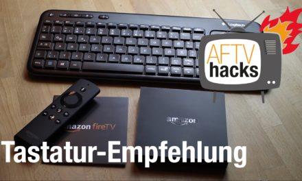 Fire TV Tastatur-Empfehlung: Logitech K400 Wireless Touch mit Standby-Taste