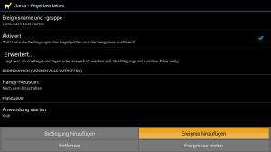 Llama Regel zum automatischen Starten von XBMC bzw. Kodi
