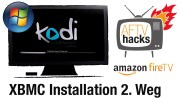 XBMC/Kodi unter Windows mit Amazon Fire TV Utility App installieren