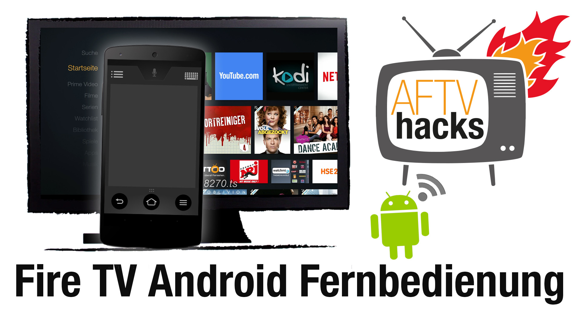 amazon fire tv fernbedienung android app. Black Bedroom Furniture Sets. Home Design Ideas