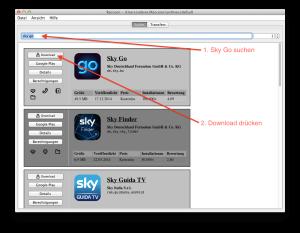 Die Sky Go APK-Datei mit Hilfe von Raccoon herunterladen