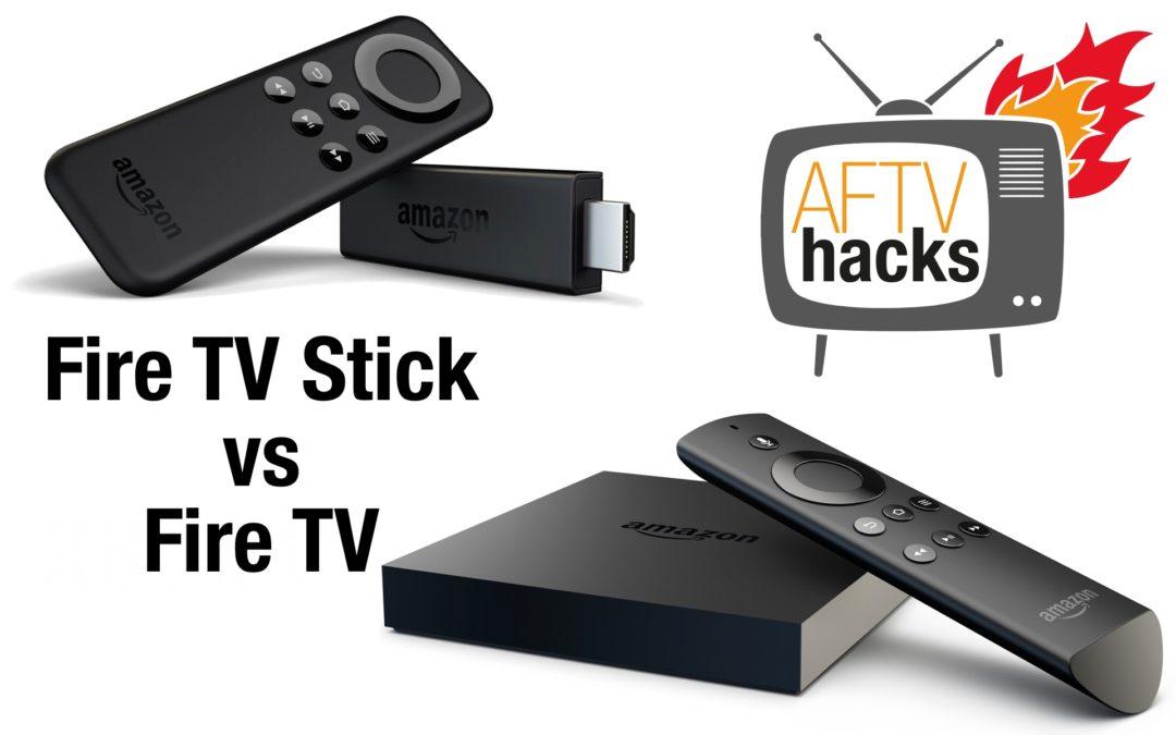 Vergleich: Was sind genau die Unterschiede zwischen Fire TV Stick und Fire TV?