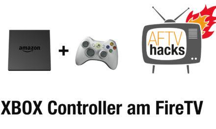Anleitung: Xbox360 Wireless Controller am Fire TV nutzen