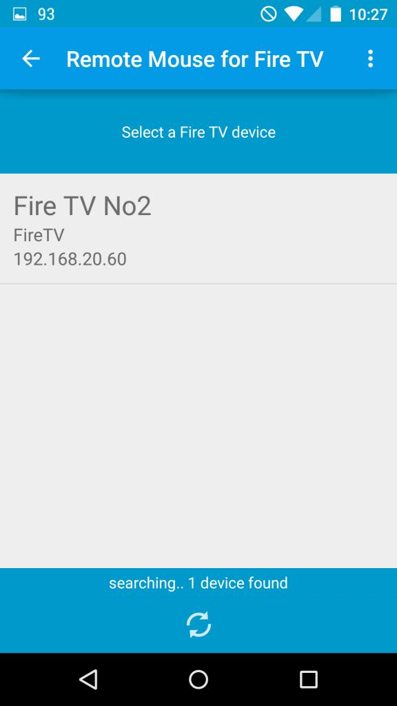Geräteübersicht der Remote Mouse for Fire TV App