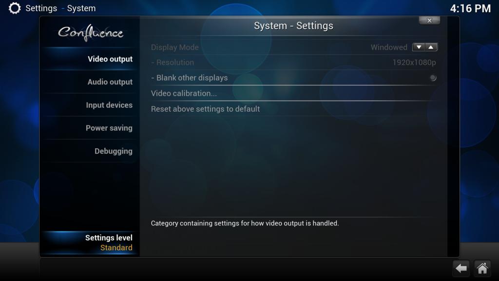 In den XBMC-Einstellungen ganz unten auf Advanced ändern