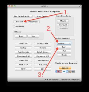 Mit adbFire das ZIP-Addon direkt in den XBMC-Ordner auf Eurem Fire TV hochladen