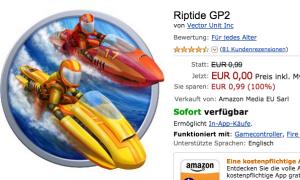 Fire TV Spiel Riptide GP2 heute kostenlos im Amazon App Store