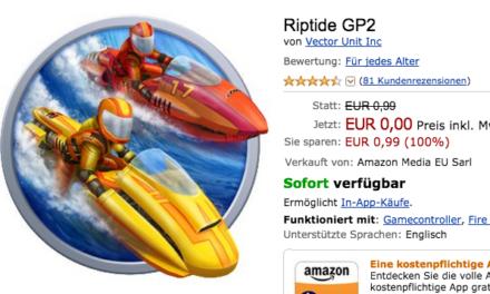 Deal: Fire-TV Rennspiel Riptide GP2 heute kostenlos