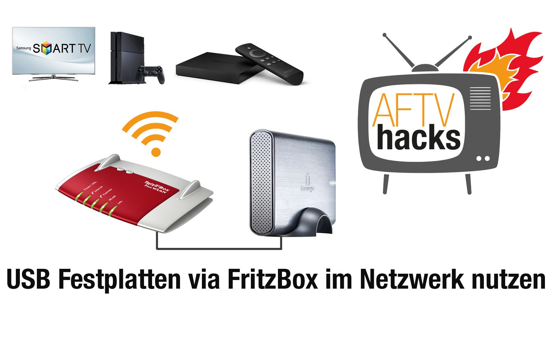 Anleitung: Vom Fire TV auf USB-Festplatten am Router zugreifen