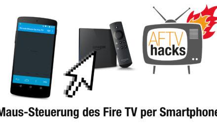 Tipp: Maus-Steuerung des Fire TV mit einem Android-Gerät (bspw. für Sky Go)