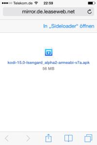 APK-Datei mit Sideloader öffnen