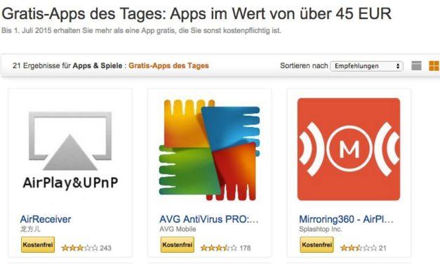 Tipp: Amazon bietet wieder 21 Android Apps im Wert von über 60€ kostenlos an – 17 fürs FireTV