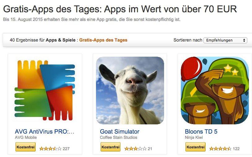 Tipp: 40 Apps im Wert von fast 100€ kostenlos bei Amazon – 3 fürs Fire TV, 1 für Stick