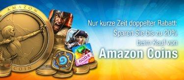 Deal: 5.000 und 10.000 Amazon Coins um 20% reduziert