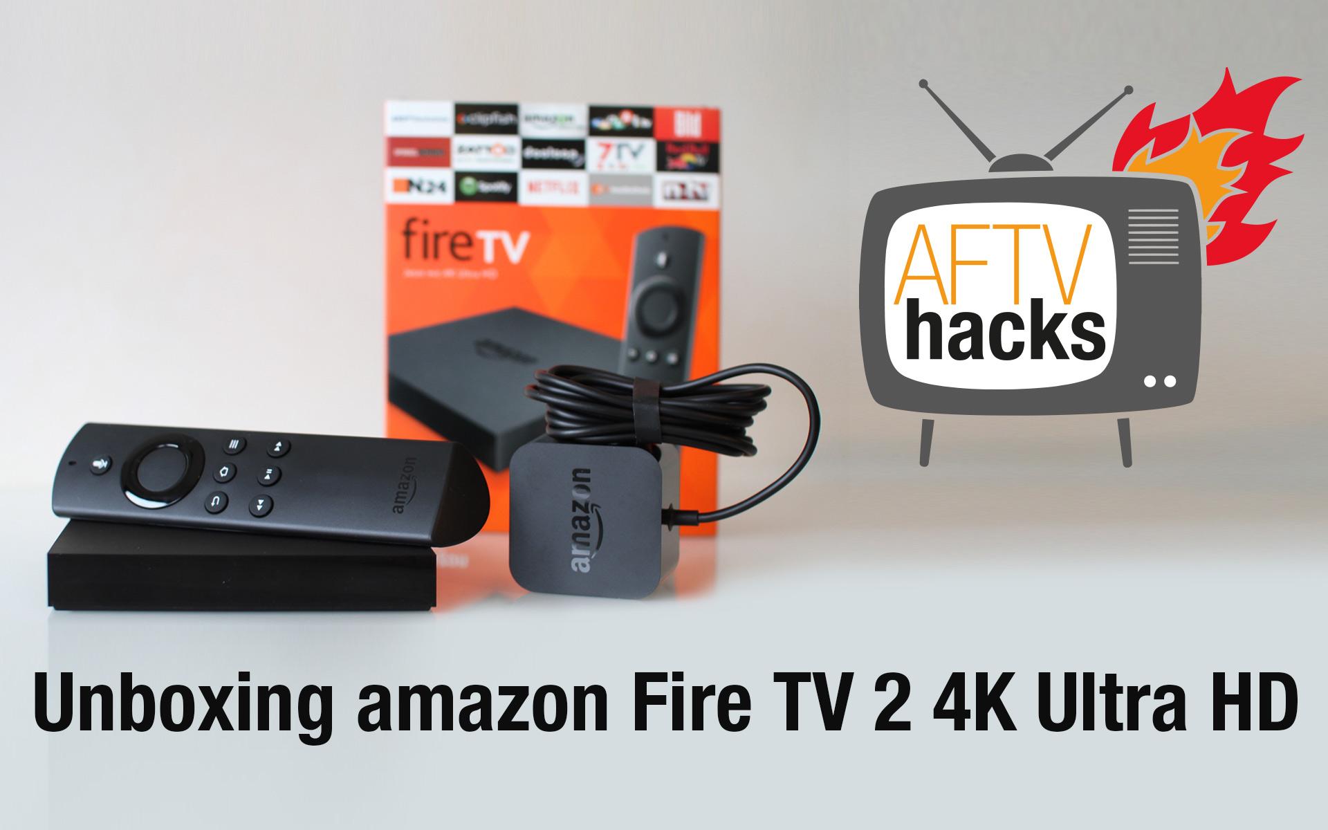 Unboxing-Video des neuen Amazon Fire TV 2 mit 4K Ultra HD – deutsch