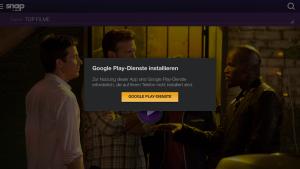 Fehlermeldung: Google Play-Dienste nicht installiert