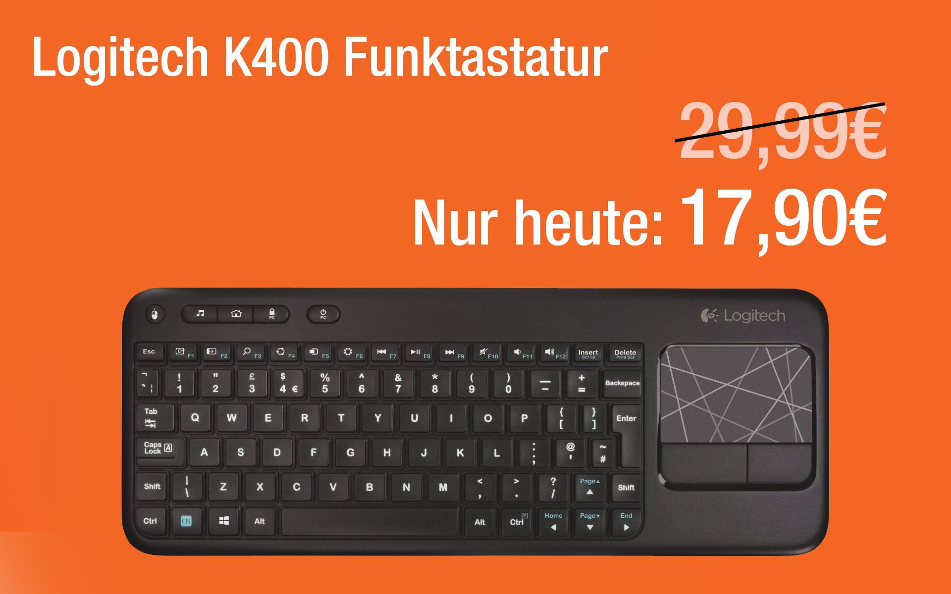 Heute nur 17,90€ – Logitech K400 Funktastatur
