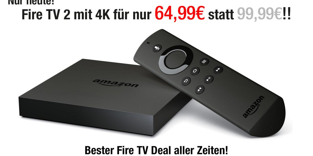 Deal: Amazon Fire TV 2 nur 64,99€ – nur heute!