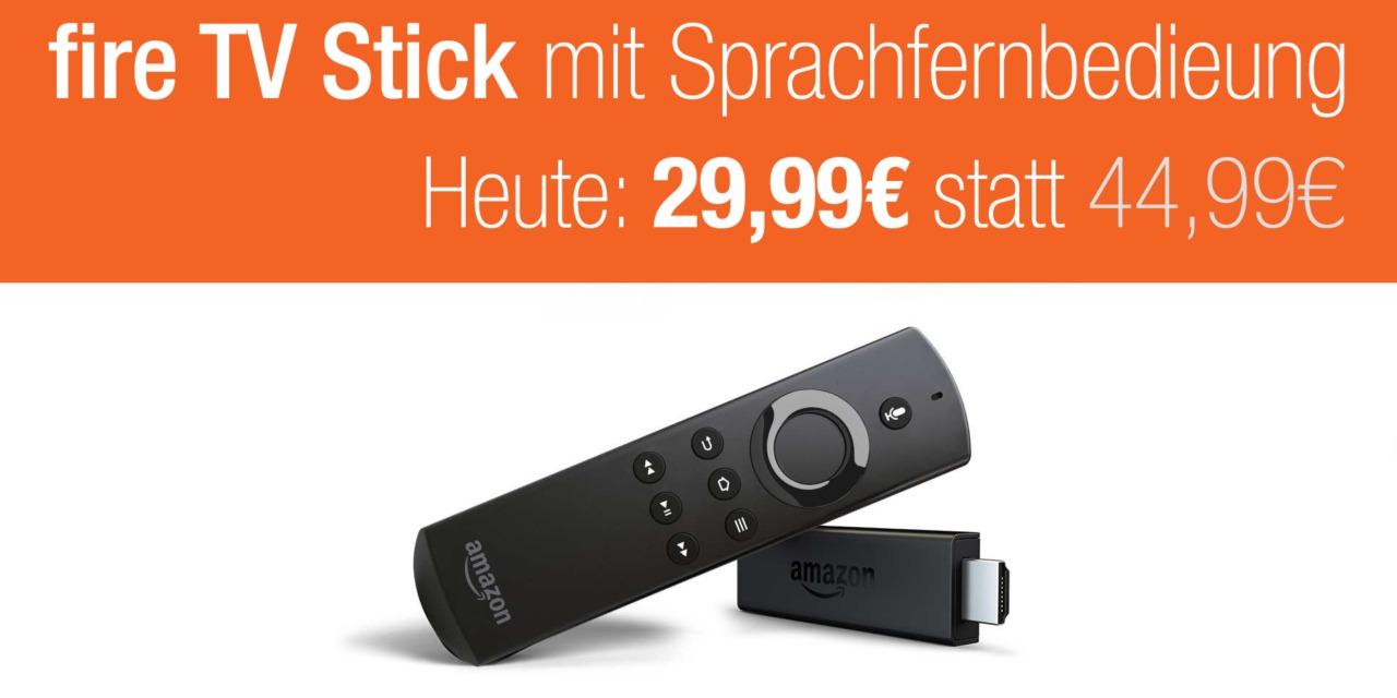 Fire TV Stick mit Sprachfernbedienung im Tagesangebot