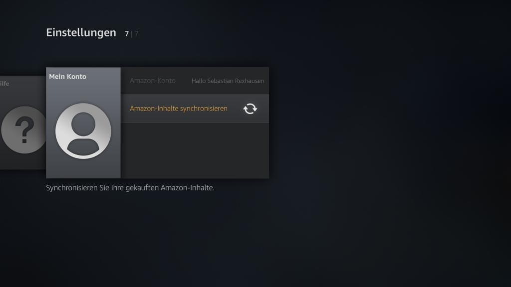 Amazon Inhalte auf dem Fire TV und Fire TV Stick synchronisieren, damit Kodi wieder auf der Startseite zu sehen ist