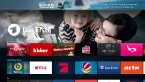 Ansicht des Fire TV Hauptmenüpunkts Apps