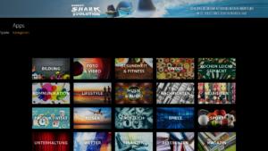 Kategorie-Ansicht im Apps-Hauptmenü als Kachelansicht