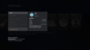 Kodi Cache löschen auf dem Amazon Fire TV und Fire TV Stick, damit die App wieder auf dem Startbildschirm angezegit wird