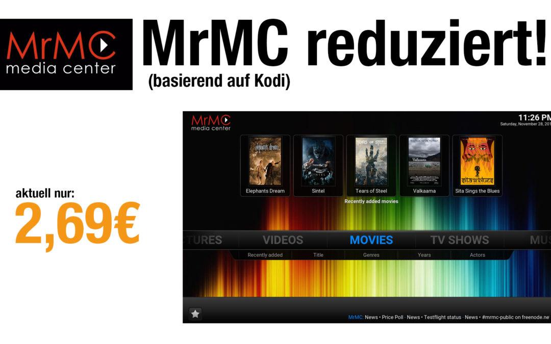 Deal: MrMc aktuell nur 2,69€ – offizielle Kodi-Variante aus dem Amazon-Appstore