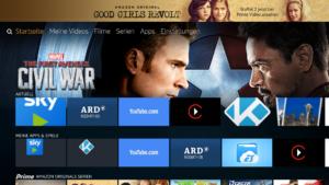 Neue Startseite der Fire TV Firmware 5.2.4.0