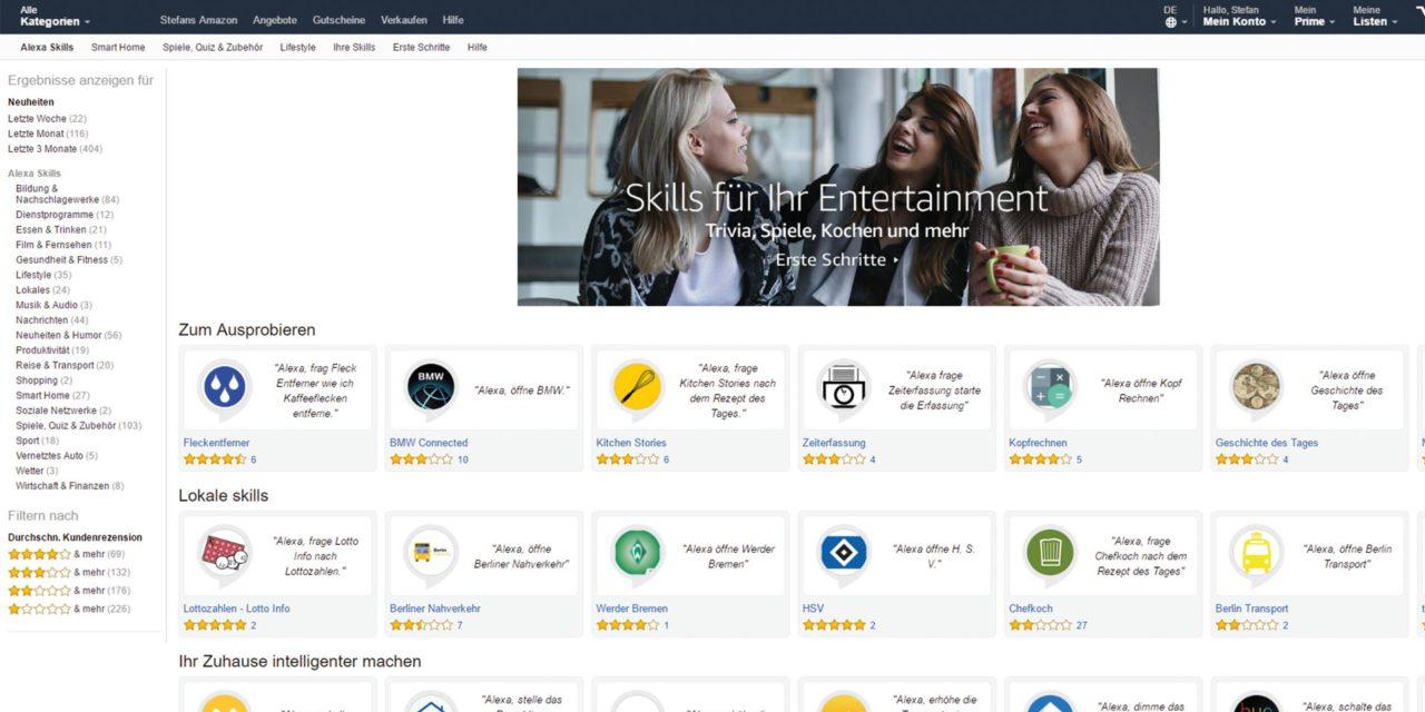 Dank neuem Skill Store mehr Überblick für Amazon Alexa Skills