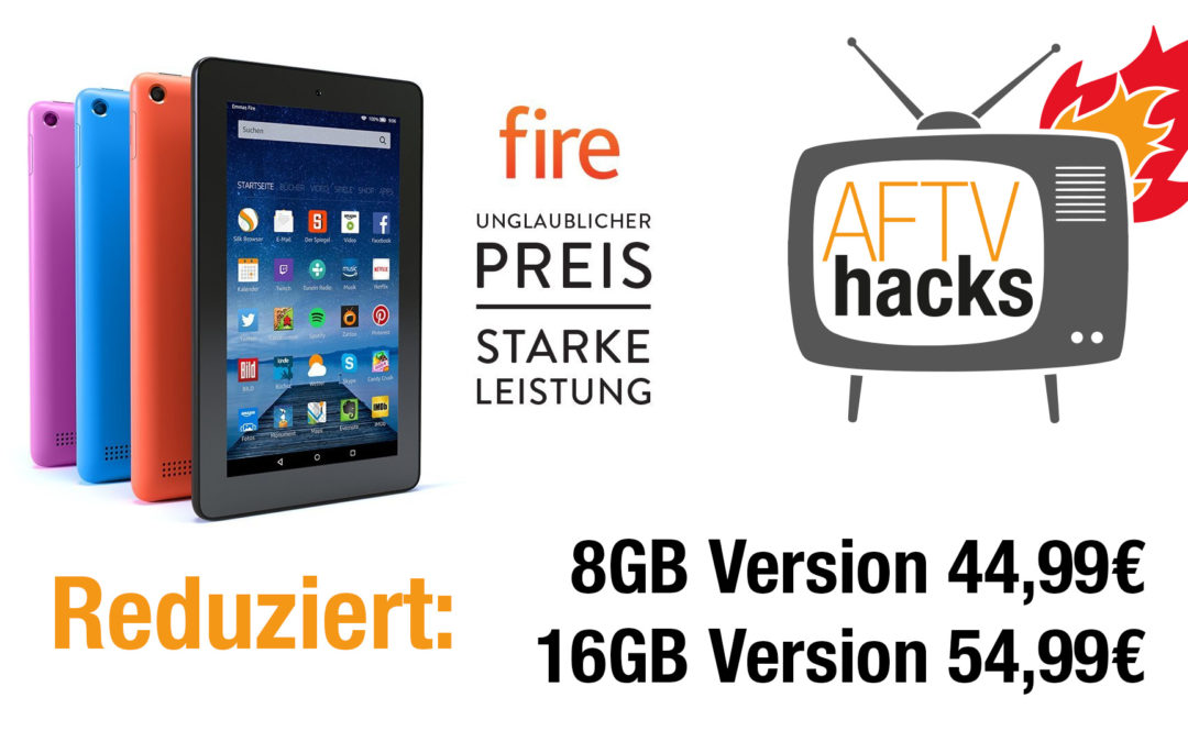 Deal: Fire Tablet 8GB für 45€, 16GB für 55€
