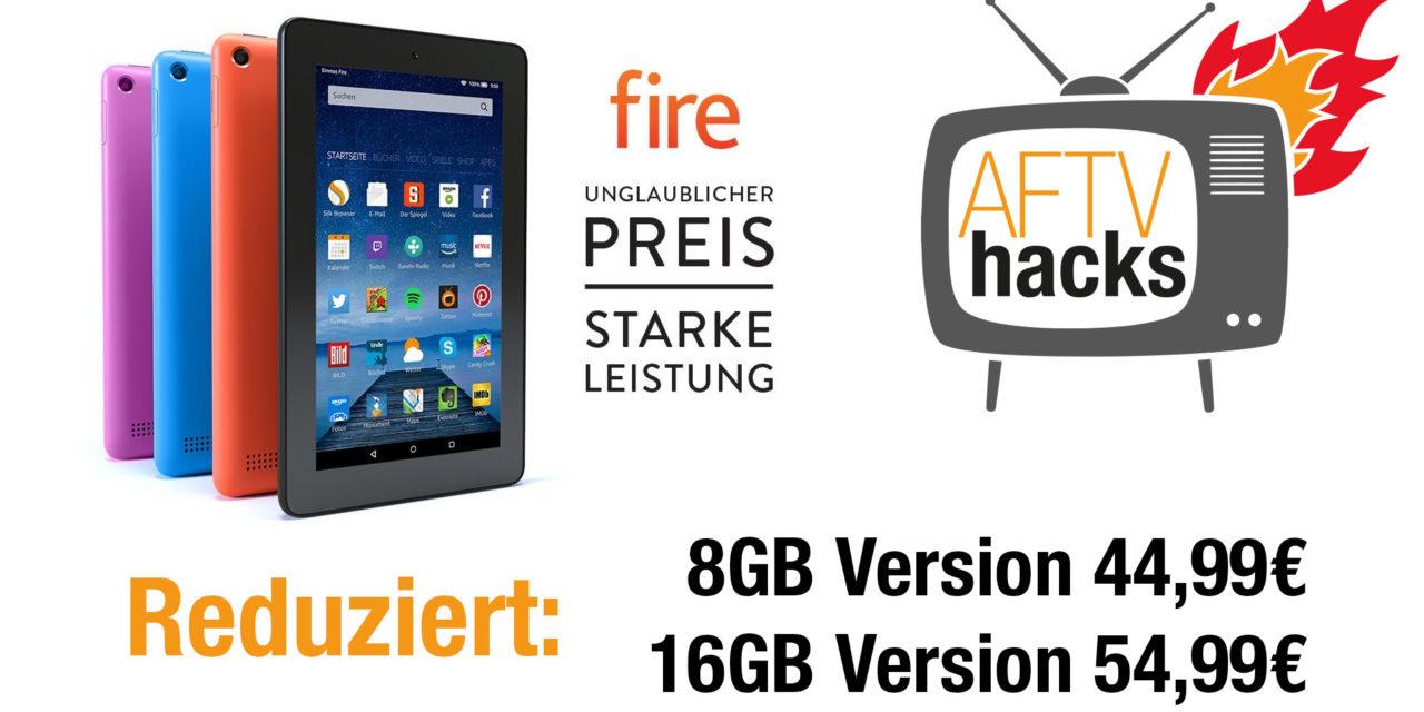 Deal: Fire Tablet 8GB für 45€, 16GB für 55€