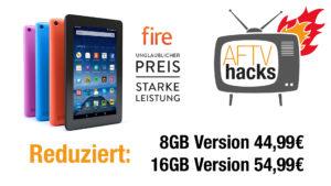 """Amazon hat das 7"""" Fire Tablet reduziert"""