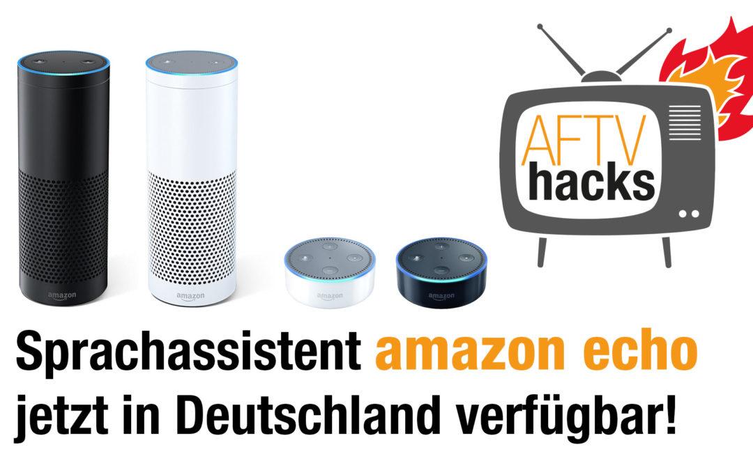 Sprachassistent Amazon Echo und Echo Dot jetzt offiziell in Deutschland verfügbar