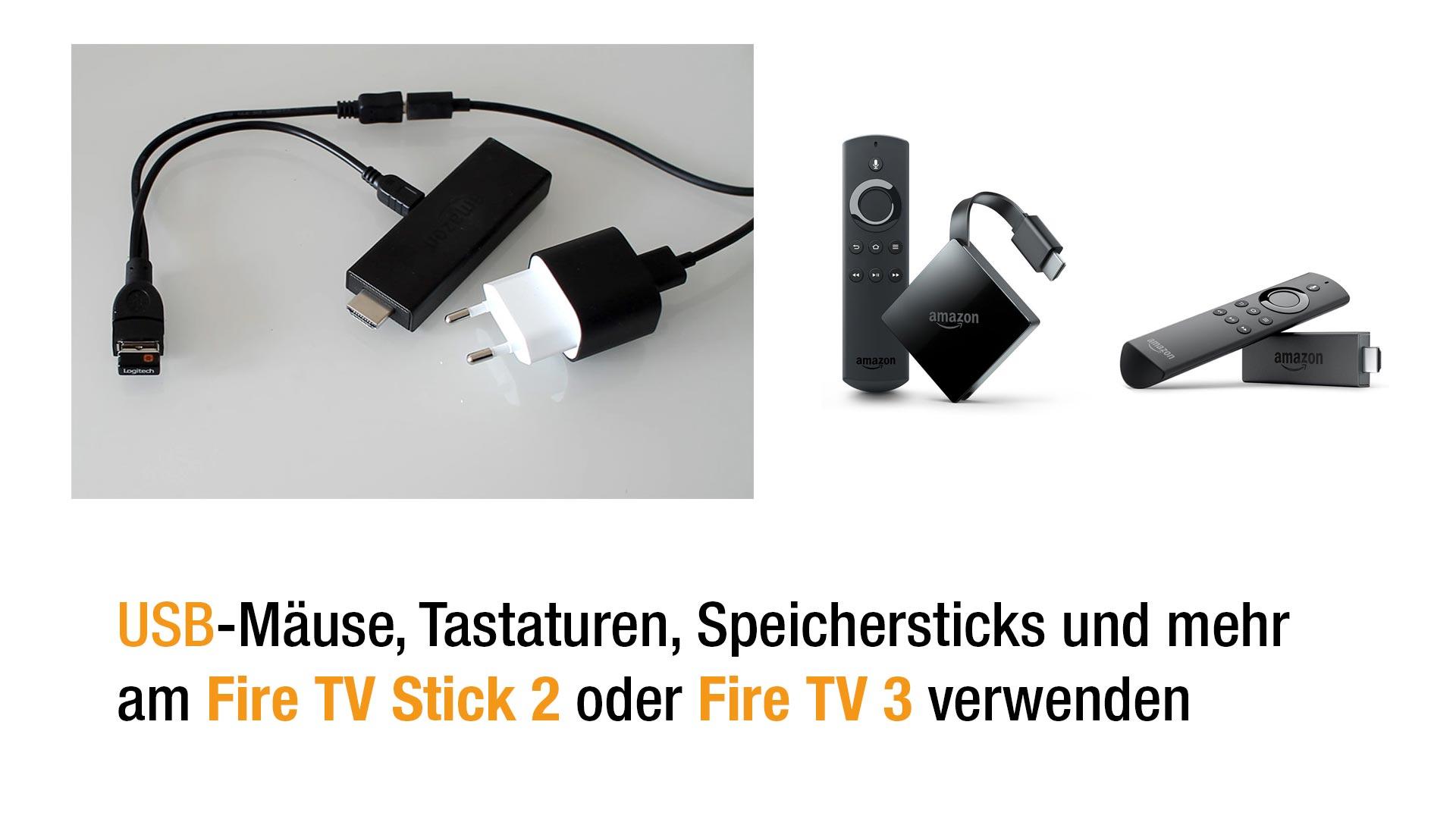 Anleitung: USB Tastaturen und Mäuse am neuen Fire TV Stick 2 benutzen mit OTG Kabel