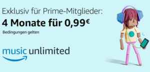 Amazon Prime Music für 1€ 4 Monate lang testen